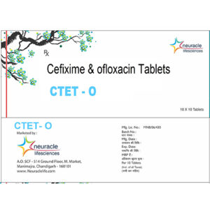 cefixime and ofloxacin