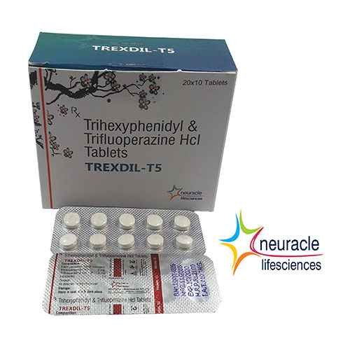 trihexyphenidyl and trifluoperazine hcl